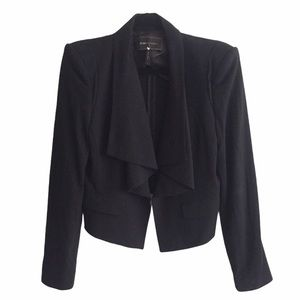 BCBG Open Front Waterfall Blazer Black M